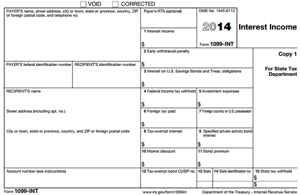 what does 1099 form look like  Understanding Tax Form 11-INT • Novel Investor