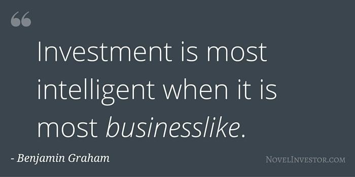 Graham Investing is Businesslike