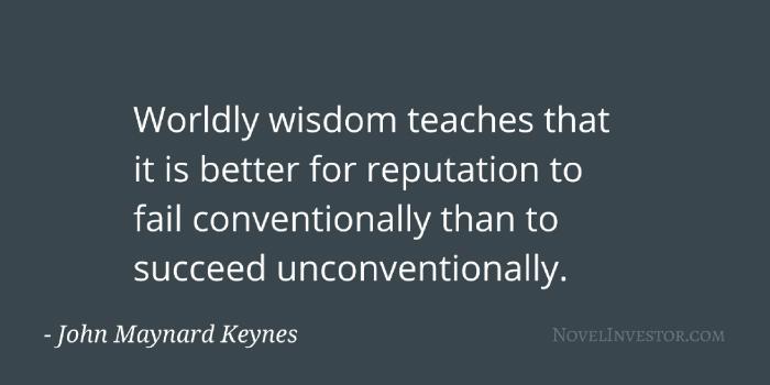 Keynes on reputation