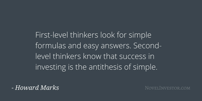 Howard Marks on Second-Level Thinking