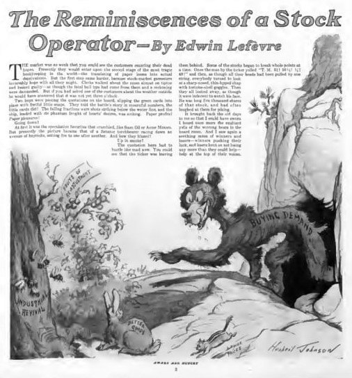First Reminiscences article 1922