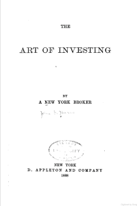 Art of Investing by John F. Hume