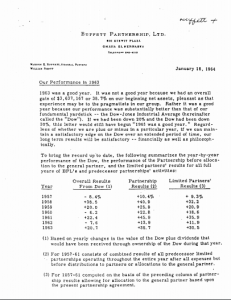 Buffett Partnership Letters image