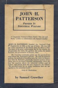 John H. Patterson Pioneer in Industrial Welfare book cover